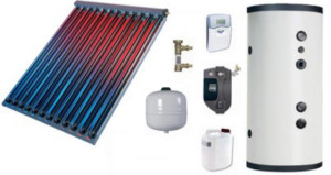 Come funzionano i pannelli solari a circolazione forzata.