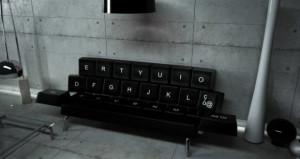 Qwerty la tastiera sofà