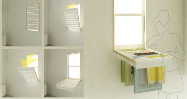 Blindry la persiana da finestra che si trasforma in stendino