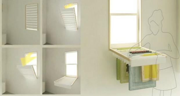 Blindry la persiana da finestra che si trasforma in stendino blog interior design idro 80 - Stendibiancheria da finestra ...