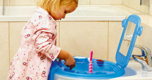 Space della OKBaby il mini lavabo adatto ai bambini